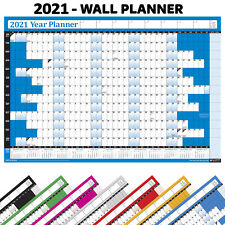 2021 Yearly Wall Planner Calendar Annual Chart✔ Holiday, Home, Office, Staff