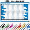 2021 Anuales Pared Planificador Calendario Tabla ✔ Vacaciones, Hogar, Oficina,