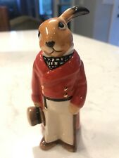 SIGNED Bunnykins By Royal Doulton Huntsman Figurine