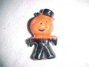 Rare vintage GURLEY  PUMPKIN MAN   HALLOWEEN CANDLE  -  UNLIT
