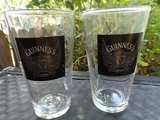 2 BEER GLASS ~*~ GUINNESS Brewing Co Stout >< Dublin, Ireland Brewery Since 1759