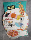 1963 Kellogg's NEW FROOT LOOPS CEREAL Store Display DIE-CUT SIGN Vintage Toucan