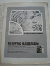 ROD McKUEN New Ballads 1970 ADVERTISING 28X38cm BILLBOARD PAGE Warner Bros