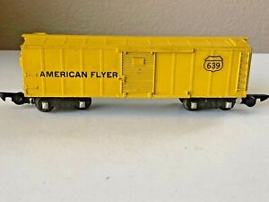 American Flyer #639 S Scale Yellow (painted) Box Car