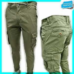 Pantalone Uomo Mod. Cargo Con Tasconi Elasticizzato TG:46-48-50-52-54-56-58-60