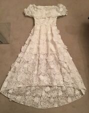 asos bridal gown 0 24 Inch Waist XS Off Shoulder White Lace Short Petticoat Dres