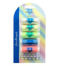 SIMTHREAD Luminous Glow in Dark Embroidery Bobbins Thread - 5 Colors, 150Y Each