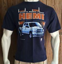 Dodge Hemi Men's XL Tshirt Navy Blue Short Sleeve 2005 Pickup Truck Graphic
