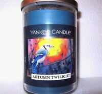 NEW Yankee Candle AUTUMN TWILIGHT 20 oz. Tumbler Jar Candle Blue