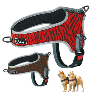 No Pull Mesh Padded Dog Vest Harness Reflective Front Clip Quick Fit Pug Boxer