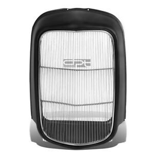 Fit 1932 Model B/Bb/18 Stamped Steel Front Grille Shell+Stainless Grill Insert