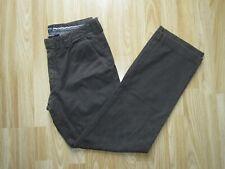 Mens HUGO BOSS Chuck2-D Brown Stretch Trousers Pants Size EU 46 / 30R L 30 GREAT