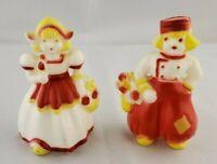"Vintage Plastic ""Dutch Children - Boy & Girl"" Salt & Pepper Shakers"