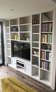 7ft Welsh Dresser/ TV Unit / Stand/ Cabinet Painted/ Bookcase