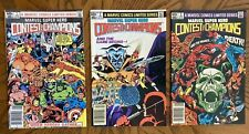 Marvel Super Hero Contest of Champions #1 #2 #3 Newsstand Editions Comics 1982