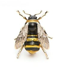 Insect Lapel Pin Broach Fashion New Very Realistic Bumble Bee Brooch Black Gold