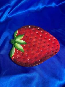 Beautiful Pier One Imports Strawberry Dessert / Fruit Plate. Condition: perfect