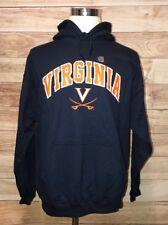 Virginia Cavaliers Blue Hoodie Men's Size Large Heavy Weight Long Sleeves LBB76