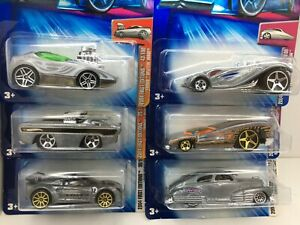 Hot Wheels * Lot of 6* 2004 FE * Zamac Editions*Deora-Lotus-Chevy & More*1:64