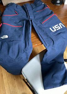 North Face Mens S Navy/red  primaloft Ski Pants USA