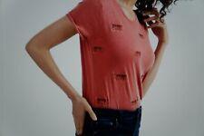 'LUCKY BRAND'  Cheetah Ladies 100% Cotton T-shirt Size M (L2)