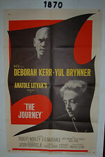 THE JOURNEY Original 1sh Movie Poster 1958 shadowy images of Yul Brynner