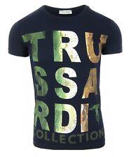 TRUSSARDI Collection Herren Men T-Shirt Kurzarm Dunkelblau Navy S,M,L,XL,XXL,3XL