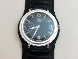UNION.S.A SOLEURE WWII Big Swiss Military Vintage Mechanical Wristwatch Servised