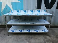 Brand New Stainless Steel 3 Level Bench with splash back 1300 x 700 x 900