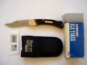 SCHRADE USA  6OT GOLDEN BEAR  OLD TIMER  FOLDING LOCKBACK KNIFE