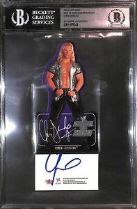 Chris Jericho Signed 2002 Fleer WWE Raw vs SmackDown Pop-Ups Card BAS COA AEW