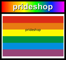Rainbow Flag Fade Resistant Adhesive Decal Sticker Gay Lesbian Pride #173