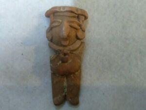 7/29A Pre-Columbian Scarce Chupicuara Terracotta Head 800bc-200ad