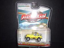 Greenlight Jeep Wrangler Islander 1990 Yellow All Terrain 1/64 35050