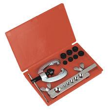 Sealey 9 pièce simple / double frein / tuyau de carburant torchères / flare die kit + cas ak505
