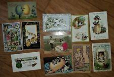 30 True Vintage Antique EASTER Postcards