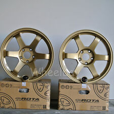 ROTA WHEEL GRID 17X8 35 & 17X9  5X114.3 42 73 GOLD  HONDA S2000 RSX ACCORD