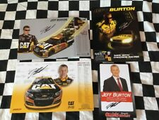Jeff Burton Signed Hero Card Lot Nascar RCR