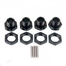 RC Wheel Hex Metal 17mm Mount Hub Nuts & Pin 4p For RC 1:8 Car Part 81011 Black
