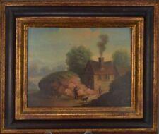 Peintures et émaux du XIXe siècle et avant encadrés école flamande pour Réalisme
