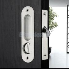 Stainless Invisible Barn Wooden Sliding Door Gate Cup Handle Lock Hardware#1