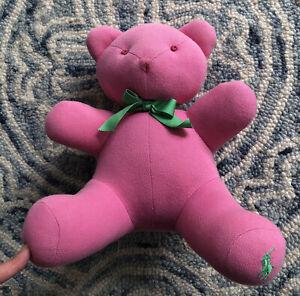 Ralph Lauren Pink Knit Bear Green Player Logo