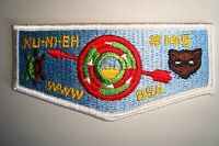 OA KU-NI-EH LODGE 145 DAN BEARD COUNCIL PATCH TURTLE SHIELD PLASTIC SERVICE FLAP