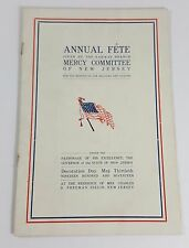 1917 Annual Fete Rahway Mercy Committee New Jersey Soldiers Sailors Program WWI