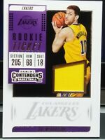 SVI MYKHAILIUK L.A. LAKERS 2018-19 CONTENDERS ROOKIE TICKET YELLOW PATCH SP