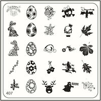 MoYou Nail Fashion Stamping Nail Art Image Plate 407 Easter, Christmas Style