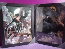Batman and Catwoman - Artwork - Black Picture Frames - Comic Art