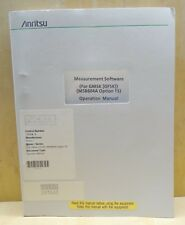 ANRITSU MEASURMENT SOFTWARE OPERATION MANUAL FOR GMSK MS8604A OPTION 15
