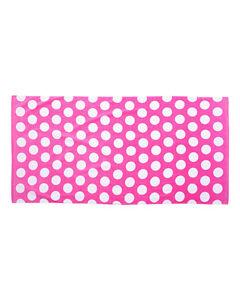 "Carmel Towel Company Polka Dot Velour Beach Towel C3060P 30"" x 60"""