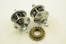 PAIR ACORN BMX MAG WHEEL HUBS, NEW OLD STOCK BRITISH MADE IN 80's CAST ALLOY NOS